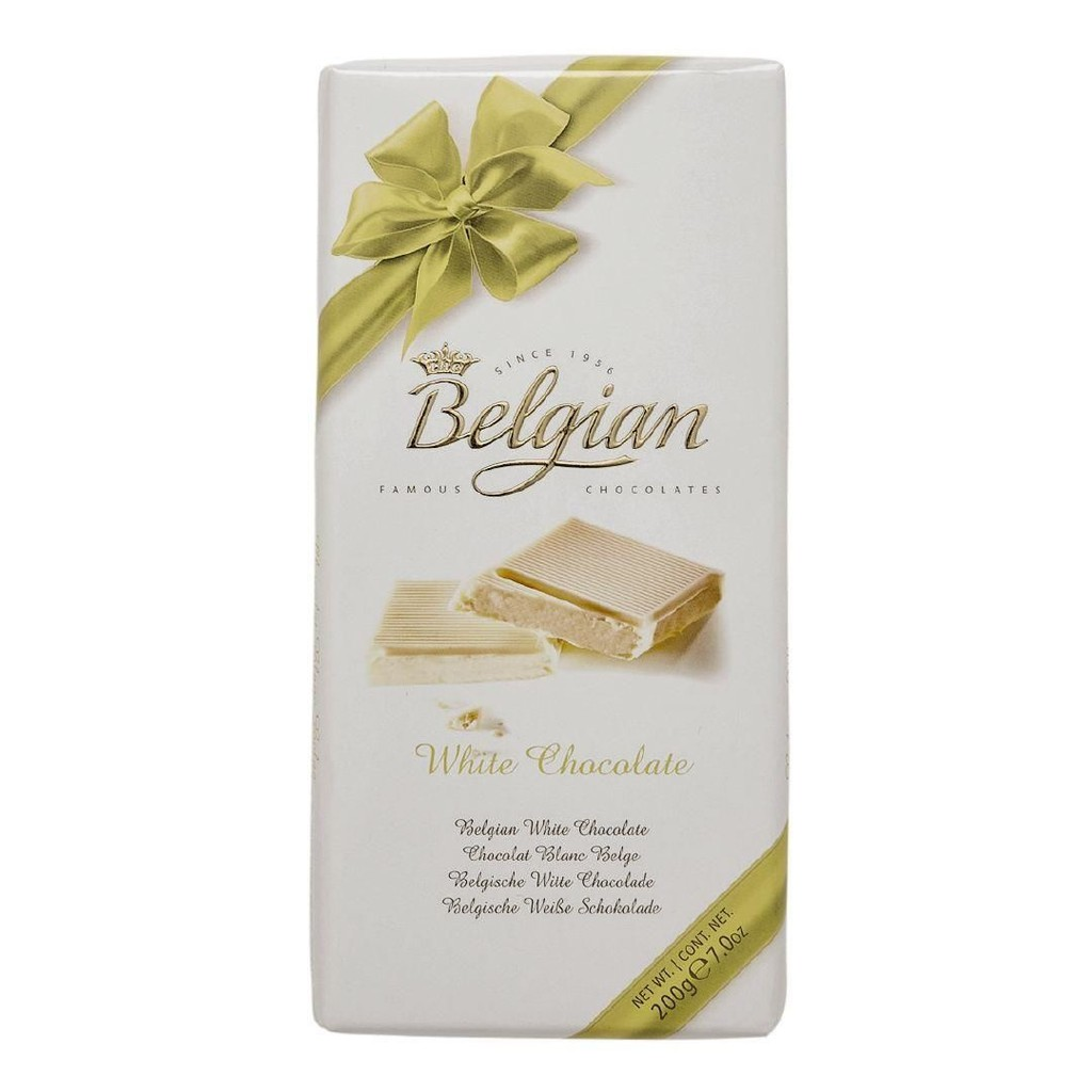 Belgian White chocolate 100gr