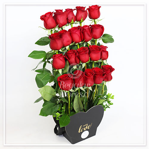 Amor frontal 20 rosas